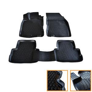 tapis sol caoutchouc sur mesure 3d tpe nissan qashqai ii j11 2014 up tous ebay. Black Bedroom Furniture Sets. Home Design Ideas
